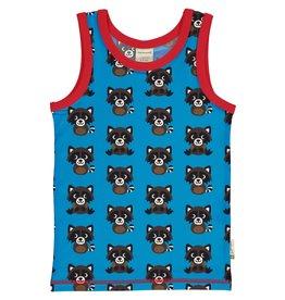 Maxomorra Mouwloze t-shirt met wasberen