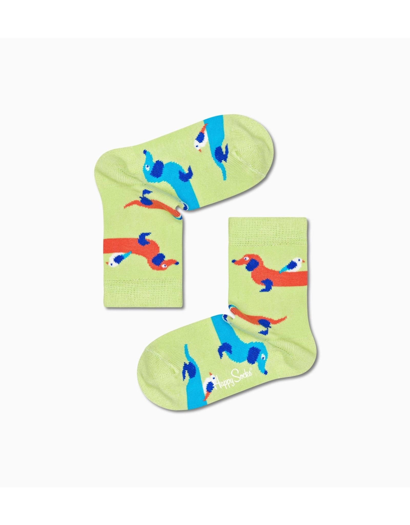 Happy Socks Kindersokken met teckel hondjes