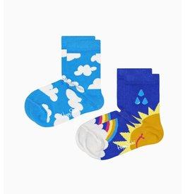 Happy Socks 2-pack Kids After Rain kindersokken
