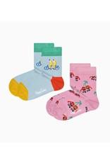 Happy Socks 2-pack kindersokken met vrolijke fruitjes