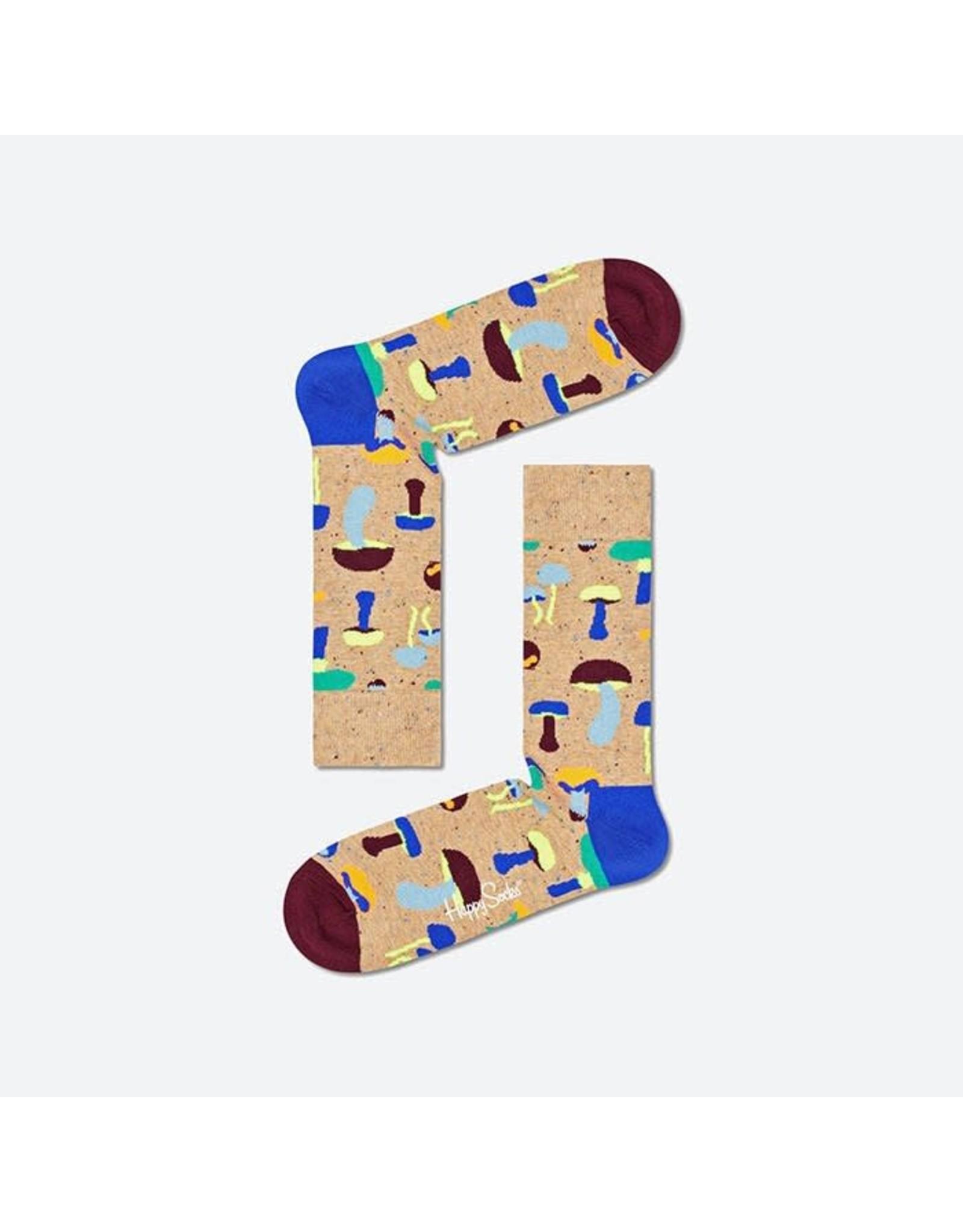 Happy Socks VOLWASSENEN sokken met paddenstoelen