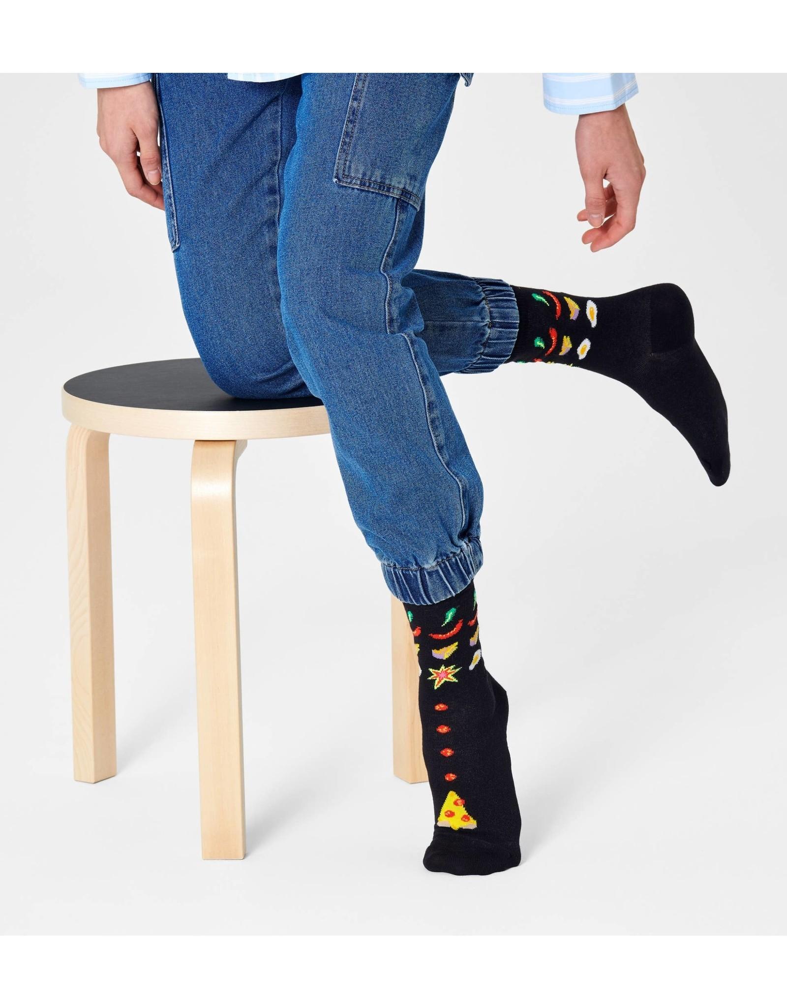 Happy Socks VOLWASSENEN Pizza Invaders sokken