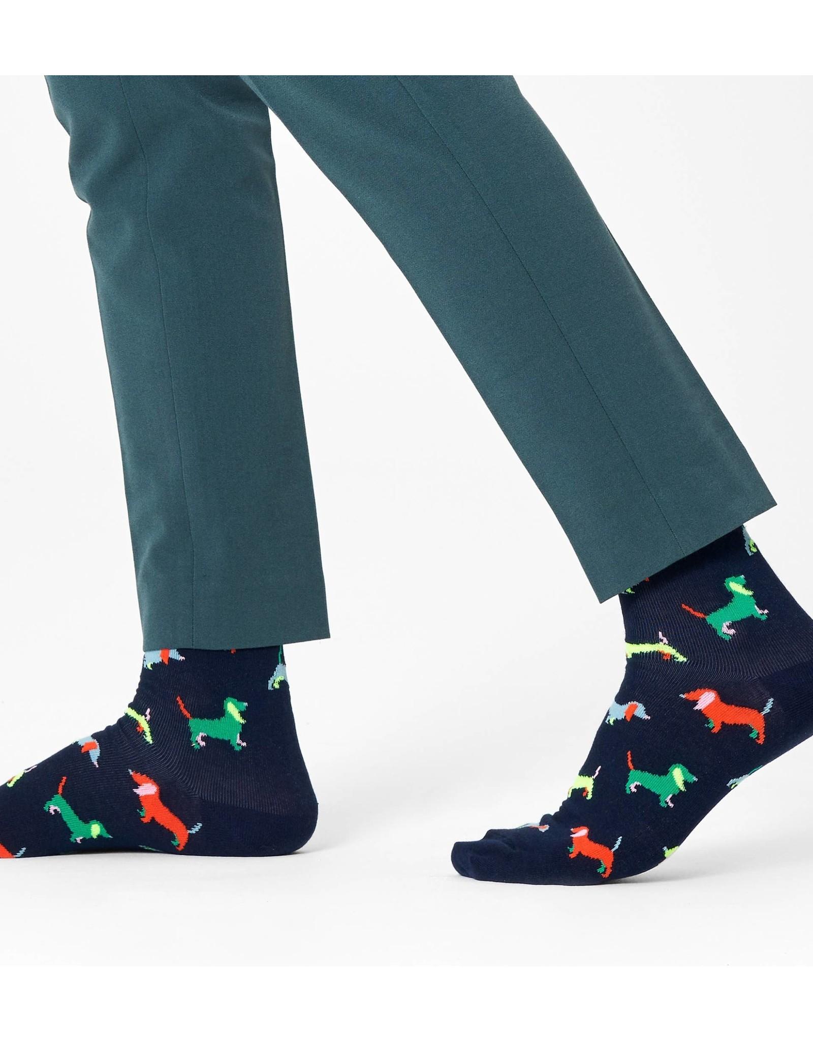 Happy Socks VOLWASSENEN sokken met puppy honden