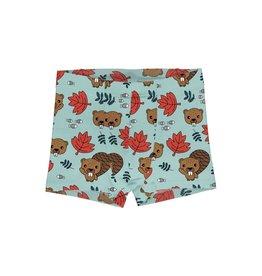 Meyadey Boxer Shorts met blaadjes en bevers