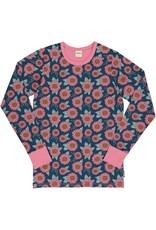 Meyadey VOLWASSENEN T-shirt met roze bloemen print