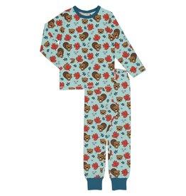 Meyadey Winter unisex pyjama met bever print