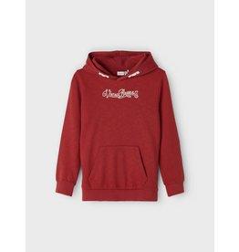 Name It Rode stoere hoodie trui