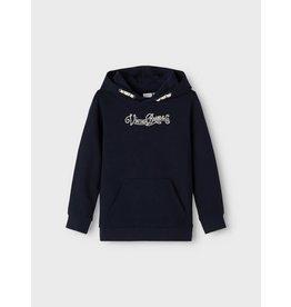 Name It Blauwe hoodie trui met opschrift
