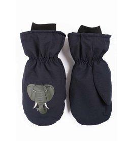 Dyr Blauwe winterwanten met olifanten