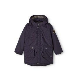 Name It Donkerblauwe dikke gewatteerde winterjas (parka model)