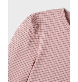 Name It Roze t-shirt met pofmouwen