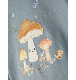 Name It Zacht blauwe t-shirt met paddenstoel