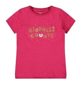 Name It Roodroze bio katoenen t-shirt met glitter letters