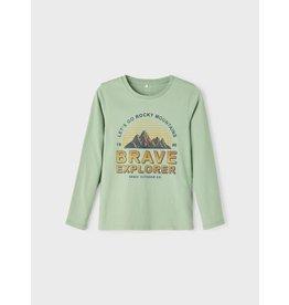 Name It Zacht groene t-shirt met lange mouwen
