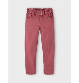 Name It Rode katoenen high waist mom fit broek