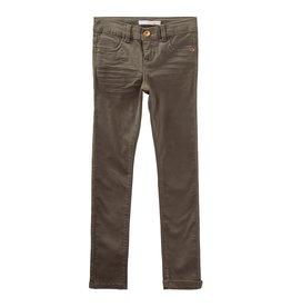 Name It Grijsbruine katoenen skinny broek voor meisjes