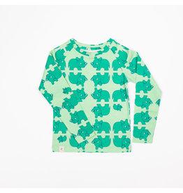 ALBA of Denmark Groene t-shirt met neushoorn print