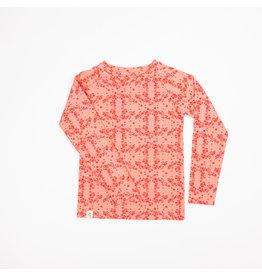 ALBA of Denmark Roze t-shirt met fijne bloemetjes