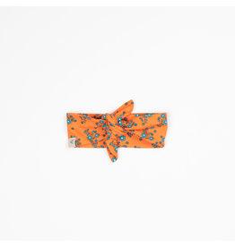 ALBA of Denmark Oranje haarband met blauwe bloemetjes