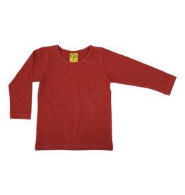 Duns Effen rode (brick red) t-shirt met lange mouwen