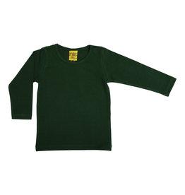 Duns Effen donkergroene unisex t-shirt met lange mouwen