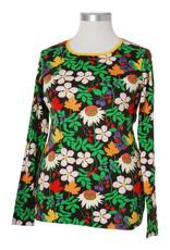 Duns VOLWASSENEN t-shirt met lange mouwen en grote bloemenprint