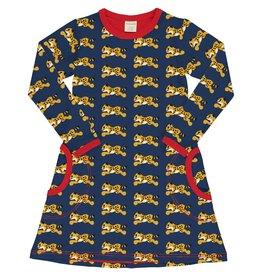 Maxomorra Kleedje met jachtluipaarden print