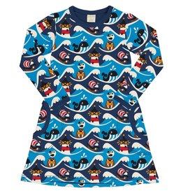 Maxomorra A-lijn kleedje met zakken en dieren van de zee