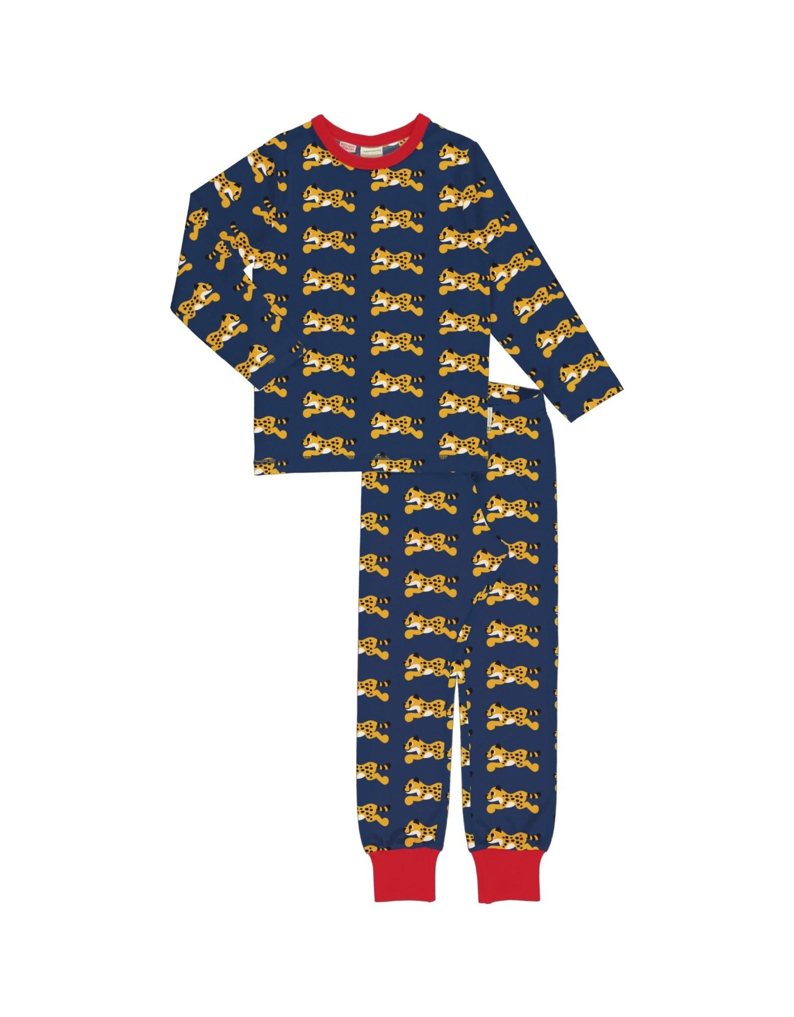 Maxomorra Katoenen pyjama met cheeta print