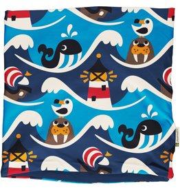 Maxomorra Scarf Tube/ronde sjaal oceaan print (binnenkant velours)