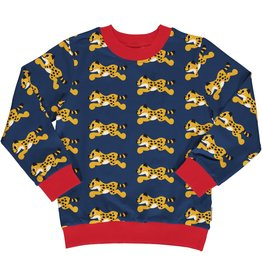 Maxomorra Sweater trui unisex met cheeta print
