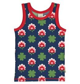 Maxomorra Mouwloze t-shirt/topje met klavertjes 4