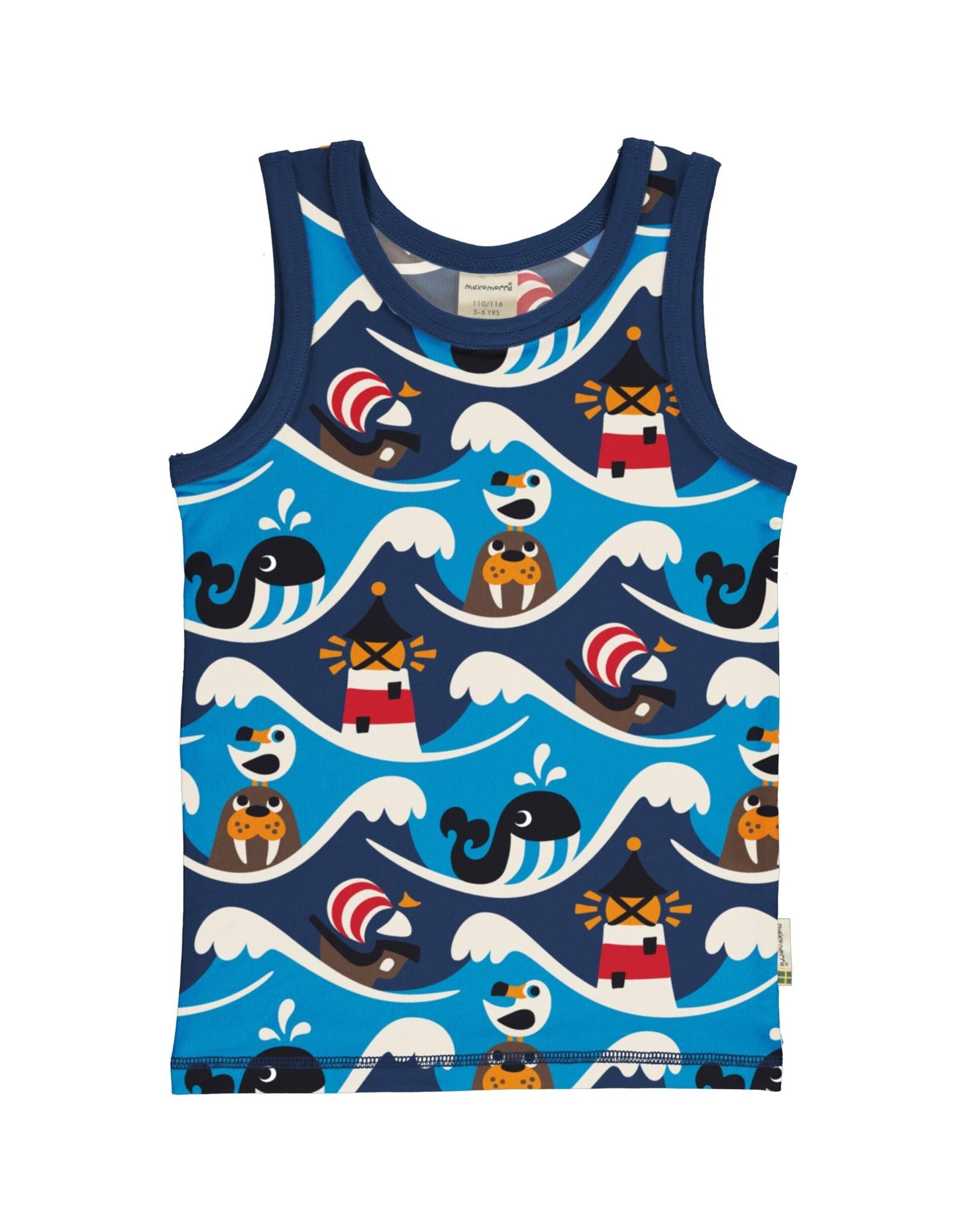 Maxomorra Mouwloze  t-shirt/topje unisex met dieren uit de zee