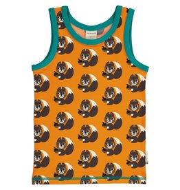 Maxomorra Mouwloze t-shirt/topje met eekhoorntjes