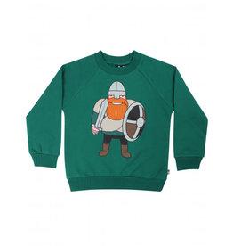 Danefae Groene warme sweater met viking Ragnar