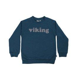 """Danefae Zacht blauwe sweater trui met opschrift """"viking"""""""