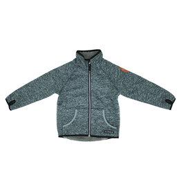 Villervalla Grijze warme windstopper trui/jas met rits