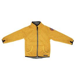 Villervalla Gele warme windstopper trui/jas met rits