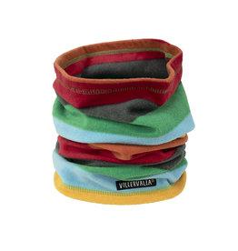 Villervalla Buff sjaal met vrolijke strepen uit fleece