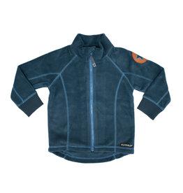 Villervalla Blauwe unisex fleece trui met rits