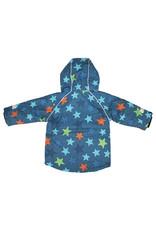 Villervalla Blauwe waterdichte unisex winterjas met sterren