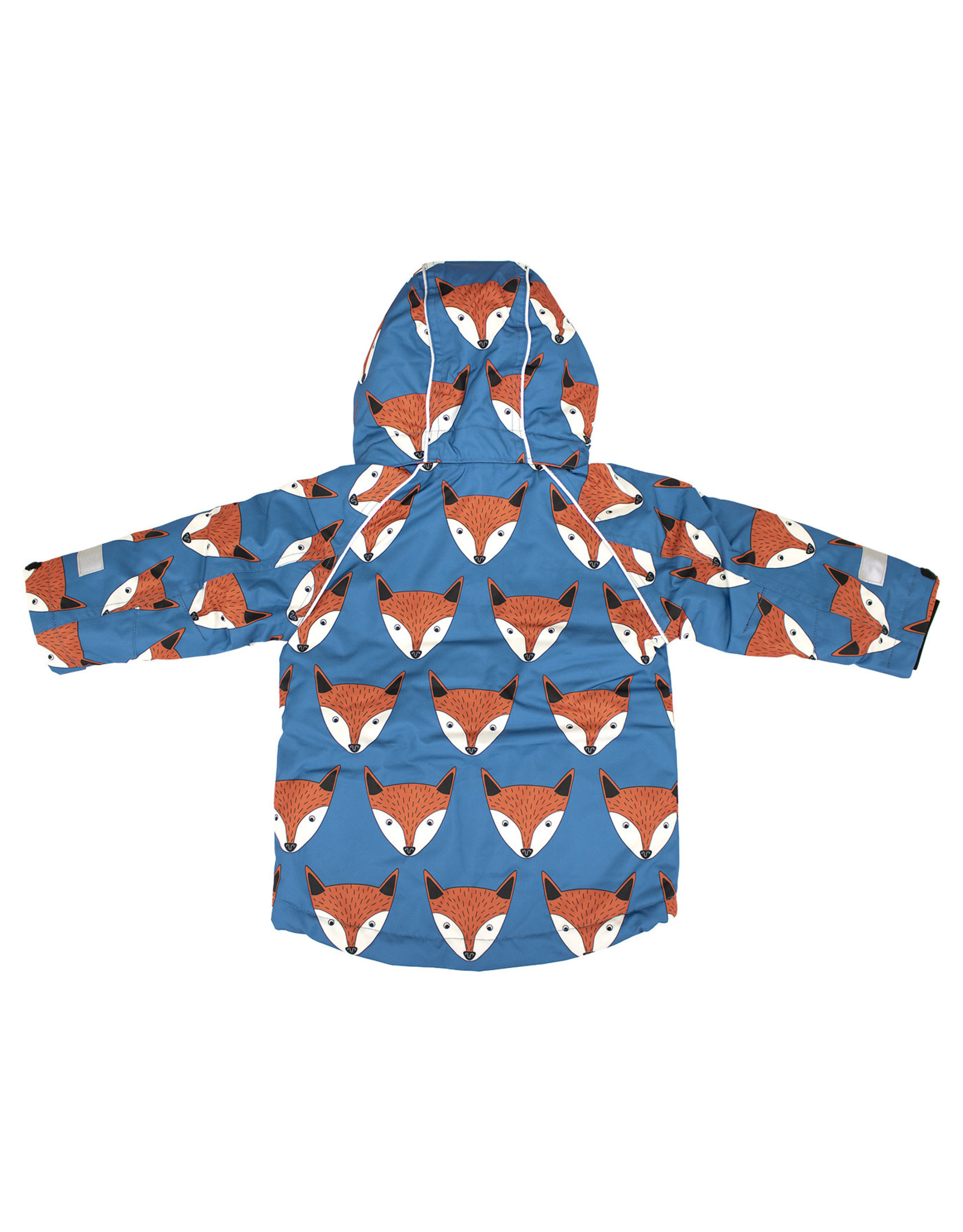 Villervalla Blauwe unisex winterjas met vossenprint