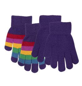 Villervalla Heerlijk zacht duo pack handschoenen (effen + PARIS kleurtjes)