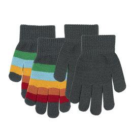 Villervalla 2-pack zachte handschoenen (effen + DUBLIN streepjes)