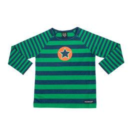 Villervalla T-shirt met groene strepen
