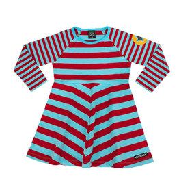 Villervalla Zwierkleedje met blauw en rode strepen