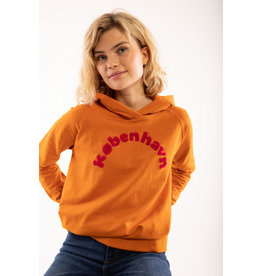 """Danefae VOLWASSENEN Oranje hoodie met """"Kopenhagen"""" opschrift"""