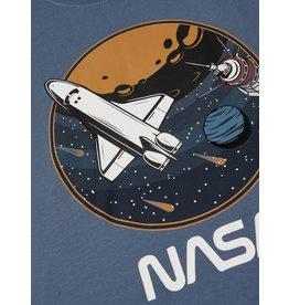 Name It Petrol blauwe t-shirt met NASA tekening