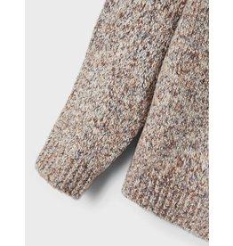Name It Gebreide trui grijs bruin gemeleerd voor kleine jongens