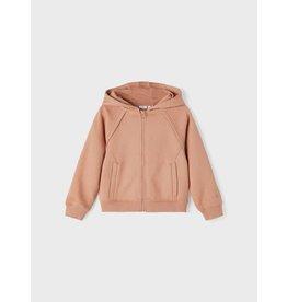 Name It Oud roze meisjes hoodie vest met rits